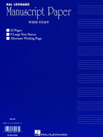 Hal Leonard Manuscript Paper - Wide Staff
