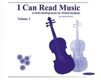 I Can Read Music, Volume 1 by Joanne Martin for Violin, Publisher Summy Birchard