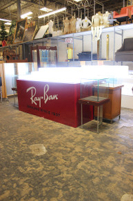 Ray Ban lit up multi tier product display island counter