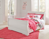Anarasia White Full Sleigh Bed