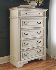 Realyn Two-tone Five Drawer Chest
