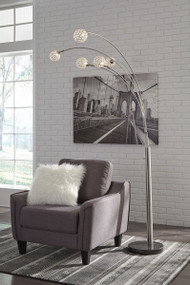 Winter Silver Finish Metal Arc Lamp (1/CN)