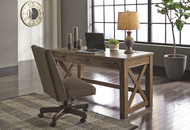 Aldwin Gray Lift Top Desk & Swivel Desk Chair