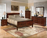 Alisdair Dark Brown 5 Pc. Dresser, Mirror, King Sleigh Bed & Nightstand
