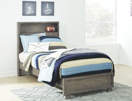 Arnett Gray Full Storage Bed