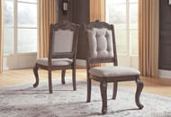 Charmond Brown Dining Upholstered Side Chair