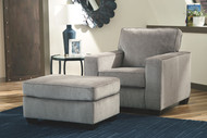 Altari Alloy Chair with Ottoman