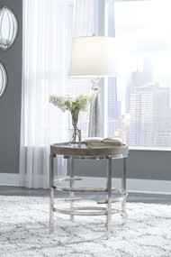 Zinelli Gray Round End Table