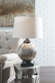 Cailan Silver/Bronze Finish Glass Table Lamp (1/CN)