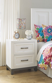 Brynburg White Two Drawer Night Stand