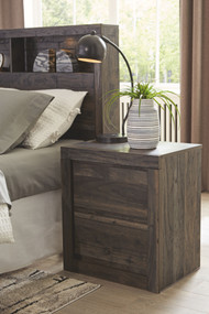 Vay Bay Charcoal Two Drawer Night Stand