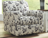 Abney Platinum Swivel Accent Chair