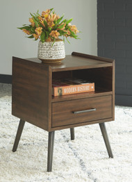 Calmoni Brown Square End Table