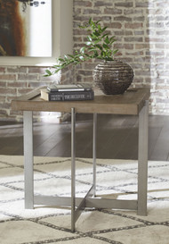 Krystanza Bisque Square End Table