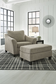 Barnesley Platinum 2 Pc. Chair and a Half with Ottoman