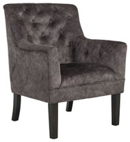 Drakelle Charcoal Gray Accent Chair