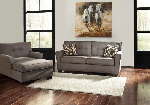 The Tibbee Slate Sofa Amp Chaise Available At Sweet Home