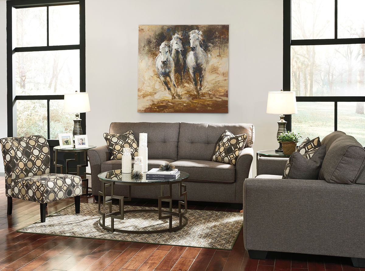 Pleasing The Tibbee Slate Sofa Loveseat Accent Chair Frostine Home Interior And Landscaping Ologienasavecom