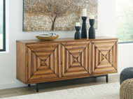 Fair Ridge Warm Brown Door Accent Cabinet