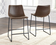 Centiar Brown/Black Upholstered Barstool