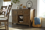 Moriville Grayish Brown Dining Room Server