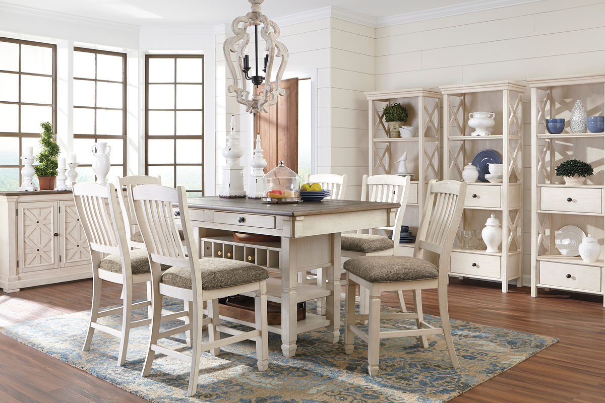 Terrific The Bolanburg Antique White 11 Pc Reclining Dining Room Download Free Architecture Designs Embacsunscenecom