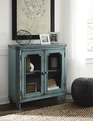 Mirimyn Antique Teal 2 Door Accent Cabinet