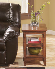 Cross Island Medium Brown Chair Side End Table
