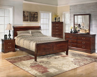 Alisdair Dark Brown 6 Pc. Dresser, Mirror, Chest, King Sleigh Bed & Nightstand