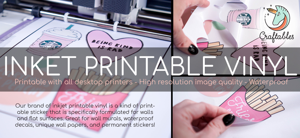 inkjet printable adhesive vinyl for stickers .