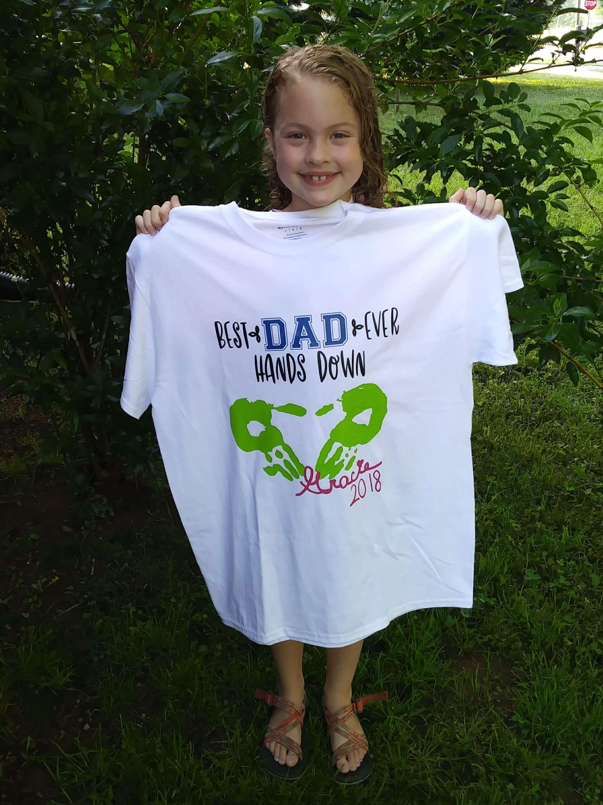 diy heat transfer t shirt fathers day