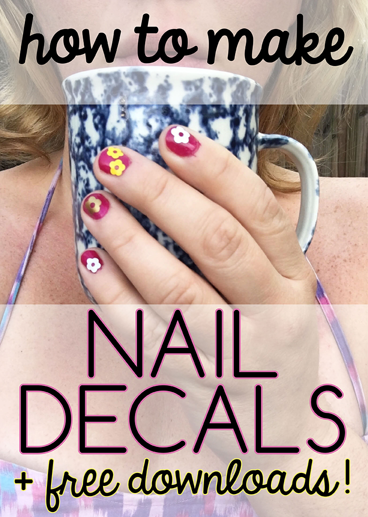 graphic about Printable Nail Decals titled How in direction of generate vinyl nail decals Craftables Site