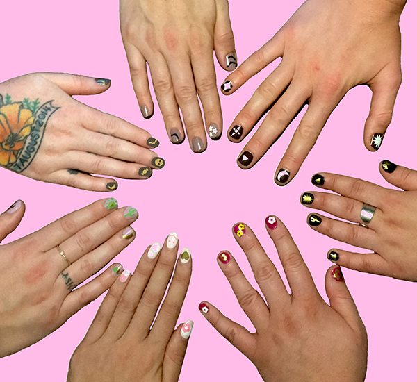 manicure party pink