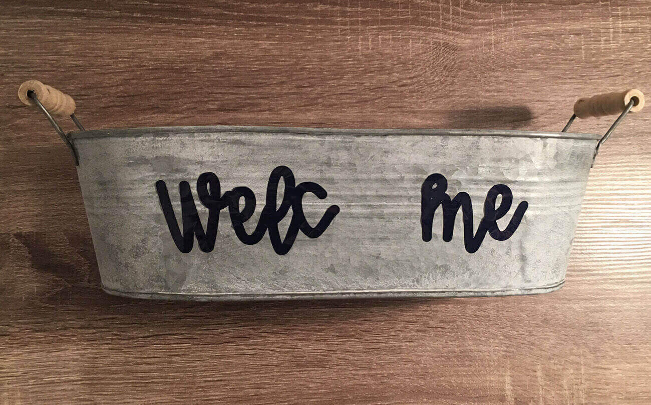 welcome planter layered vinyl cricut