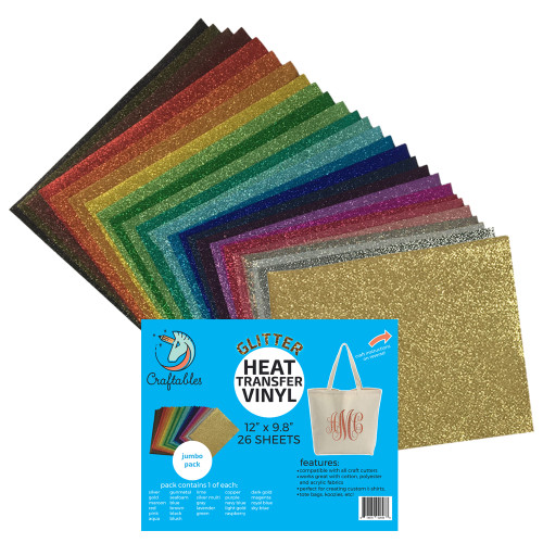Craftables Jumbo 26 pack includes every color of glitter!