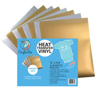 Craftables Heat Transfer Vinyl Metallic Pack Sheets
