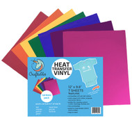 Craftables Heat Transfer Vinyl Rainbow Pack Sheets
