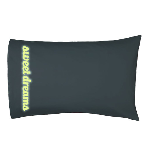 Glow in the dark pillow made with Craftables glow in the dark vinyl
