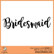 Free Bridesmaid SVG Cut File
