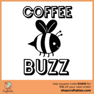 Free Coffee Buzz SVG Cut File