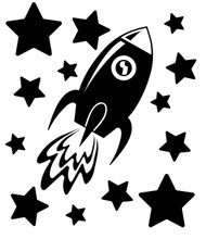rocketship svg cut file