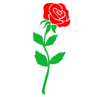 single rose svg cut file