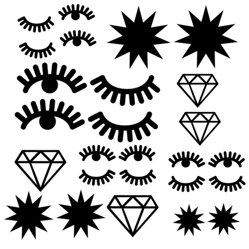 Eyes and Diamonds svg cut file