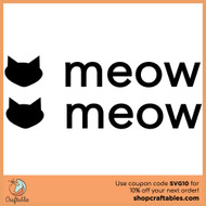 Free Cat Meow SVG Cut File