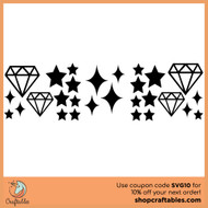 Free Stars and Diamonds SVG Cut File