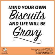 Free Biscuits and Gravy SVG Cut File
