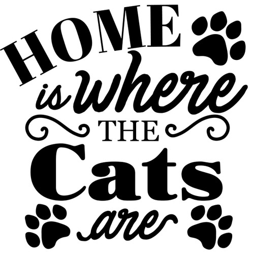 home is where the cats are theme svg cut files