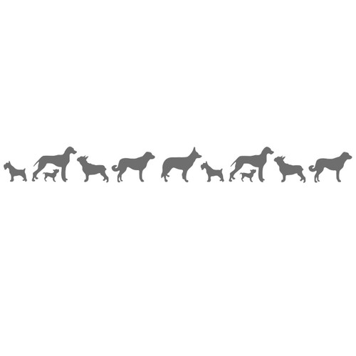 dog border svg cut files