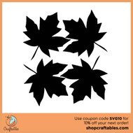 Free Falling Leaves SVG Cut File