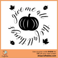 Free All the Fall Things SVG Cut File